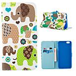 patrón de elefante feliz caso de cuerpo completo con ranura para tarjeta para el iphone 6 más / 6s más
