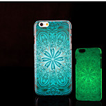 azteca resplandor patrón mandala en la cubierta trasera de plástico duro oscuro para el iphone 6 para el caso 6s iphone