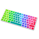 Spanish Language Rainbow Bright Ultra Thin Silicone Keyboard Skin Cover for Magic Keyboard 2015 Version EU Layout