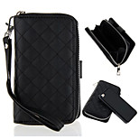 Adsorptive Separation Lambskin Purse Zipper Multifunction Lanyard  Case for iPhone 5 / 5S (Assorted Colors)