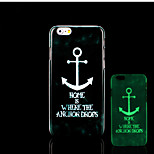 Anchors Pattern Glow in the Dark Hard Plastic Back Cover for iPhone 6 for iPhone 6s Case