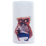 Owl Embossment Dull Polish Frame + Transparent TPU Soft Phone Case for LG G3/G4