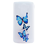 Butterfly Embossment Dull Polish Frame + Transparent TPU Soft Phone Case for LG G3/G4