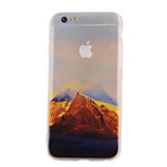 The New Mountains Landscape Pattern Translucent TPU Material Combo Phone Case for iPhone 6/ 6S