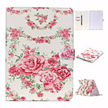 Bright Lovely Roses and TPU Textile Cloth Card Slot Stents The Cladding For Apple iPad 4/3/2