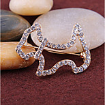 New Arrival Fashion Jewelry Popular Rhinestone Dog Brooch