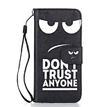 Don't Trust Anyone Pattern PU Leather Full Body Case with Stand for iPhone 6S