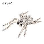 D Exceed Fashion brooches pins silver Spider crystal brooch bouquet for womens/Men brooch