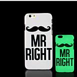 Motto Begriff Muster im Dunkeln leuchten Hartplastikhülle für iPhone 6 für iphone 6s Fall
