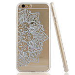 Lotus Embossment Dull Polish Side + Transparent TPU Soft Phone Case for iPhone 6/6S