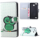 Sleeping Owl on the Branch Magnetic PU Leather wallet Flip Stand Case cover for Huawei Ascend P9