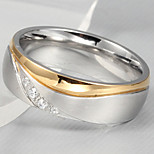 Band Rings Stainless Steel Steel Simulated Diamond Fashion Simple Style Screen Color Jewelry Party 1pc