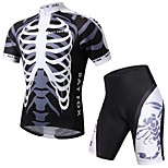 BATFOX Outdoors Sweat-absorbing Breathable Bicycle Cycling Suits Short Sleeve Shirt + Shorts
