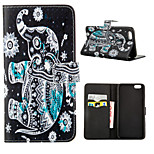 Black And White Elephants Pattern Full Body Case With Card Slot for iPhone 6 Plus/6S Plus