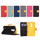 Yi Cai Wove Around Open Without Buckling Leather Card Holder for LG G4C(Assorted Colors)