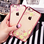 Electroplating Luxury TPU Soft Case with Diamond for iPhone 6/6s(Assorted Colors)