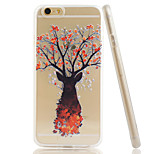 King Embossment Dull Polish Side + Transparent TPU Soft Phone Case for iPhone 5/5S