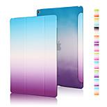 buena calidad de la PU cuero funda gradiente arco iris para el aire ipad