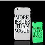 motto frase modello bagliore sulla cover posteriore in plastica dura scuro per iphone 6 per caso 6s iphone