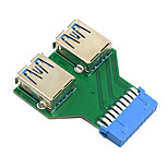 CY® Double Female USB 3.0 to 20 Pin Pinboard