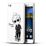 Cool Boy 3D Printing Carving Hard Back Case Ultrathin Metal Bumper for Huawei P8 Case