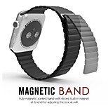 Premium Soft Leather Loop Band for Apple Watch Models with Strong Adjustable Magnetic Closure Iwatch Strap