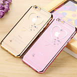 Love Diamon Electroplate Tpu With Back Case For Iphone6/6s(Assorted Colors)