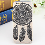 Black and White Style Campanula 2-Times Printed TPU Soft Back Cover for iPhone 6/6S