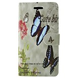 Butterfly Painted PU Phone Case for Huawei P8 Lite/P8/P7/Y550/Y530/G6