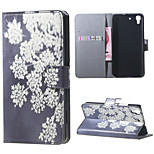 Blooming Flowers PU Magnetic Leather wallet Flip Stand Case cover for Huawei Honor 4A / Y6