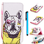 Coloured Drawing PU Leather Mobile Holster Including Anti-dust Plug stylus for iPhone 5/5S