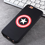 New Captain Shield Pattern Green Vinyl Material Does Not Fade Tide Phone Case for iPhone 6 / 6S