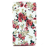 Rose Pattern PU Leather Stand Card Slot Case for LG Bello D337