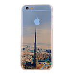 The New City Landscape Pattern Translucent TPU Material Combo Phone Case for iPhone 6/ 6S