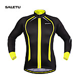 SALETU Fleece Thermal Winter Cycling Jackets Windproof Bike Bicycle Long Sleeve Jersey Shirts Ciclismo Cycling Clothing