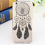 Black and White Style Dream Catcher 2-Times Printed TPU Soft Back Cover for iPhone 6/6S