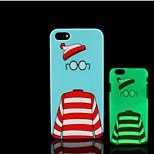 motif bande dessinée lueur dans la couverture arrière en plastique dur noir pour iPhone 5 pour iphone 5s cas