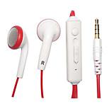 kanen ip-509 novo de alta qualidade em-ear 3 botões de controle remoto fones de ouvido + microfone do fone de ouvido fones de ouvido