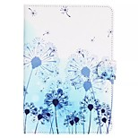 Blue Dandelion Pattern Standoff Protective Case for iPad Mini 4