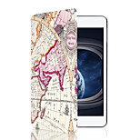 Fashion Map Cartoon PU Leather Smart Case for Apple iPad Mini 4