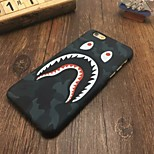 Fashion Shark Mouth Pattern Case Luminous Glow in the Dark Protective Phone Back Cover Case for iPhone 6 / 6S