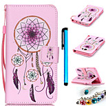 Coloured Drawing PU Leather Mobile Holster Including Anti-dust Plug stylus for Samsung Galaxy Note 5