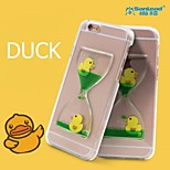 Sanlead Duck PC With Rubber And Sand Liquid Back Case For Iphone5,5s,5c