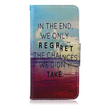 Clouds Pattern PU Leather Material Flip Card Phone Case for LG Nexus 5x