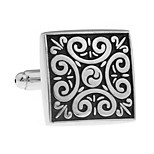 Classical medieval square pattern French shirt cufflinks cuff nail