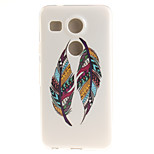 Two Feathers TPU Material Phone Case for LG Nexus 5X