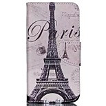 Iron Tower Painted PU Phone Case for Wiko Rainbow Jam 4G