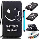 farbige Zeichnung PU-Leder mobilen Holster einschließlich Anti-Staub-Stecker Stift für Samsung Galaxy Note 5