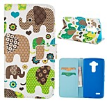 Special Design Coloured Drawing or Pattern Graphic Wallet Cases with Stand Full Body Cases for LG G3 mini/LG G4