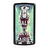 Believe in Fairies Design Metal Hard Case for LG L90/ G3/ G4